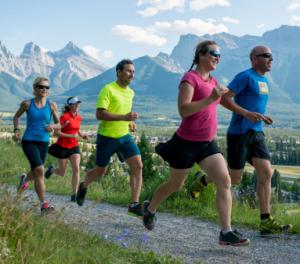 vida saudável com a corrida