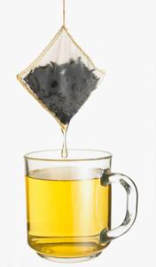 sachê de chá hortelã