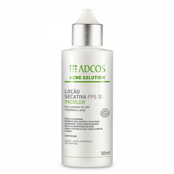 Adcos Acne Solution Loção Secativa FPS 30 Incolor