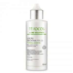 Adcos Acne Solution Loção Secativa FPS 30 Tonalizante